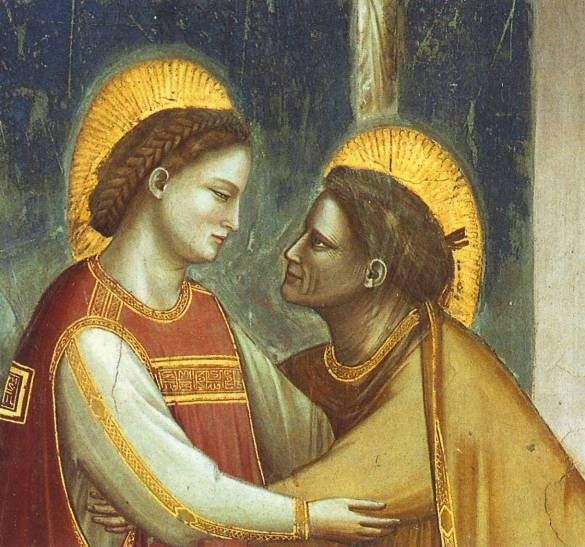 Mary's visitation to Anne, by Giotto