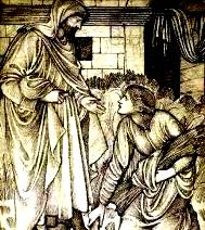 Dictionary, explanations: Ruth meets Boaz, her go'el