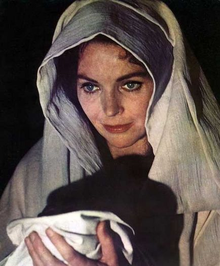 Bible movies, films. Mary of Nazareth, mother of Jesus, in 'The Greatest Story Ever Told'
