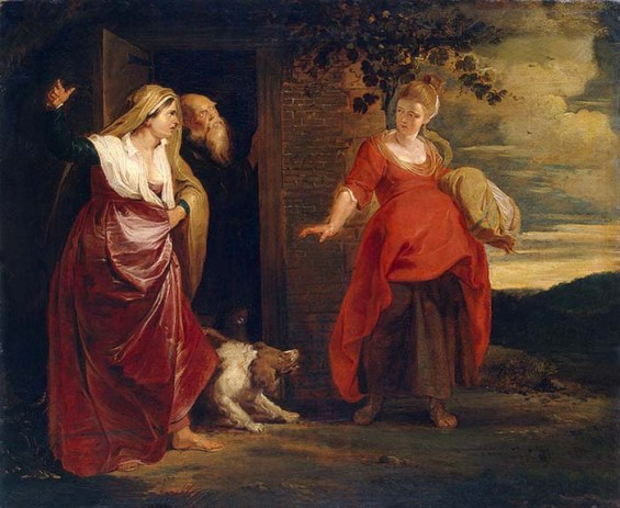 Bible Book of Genesis: Hagar leaves the house of Abraham