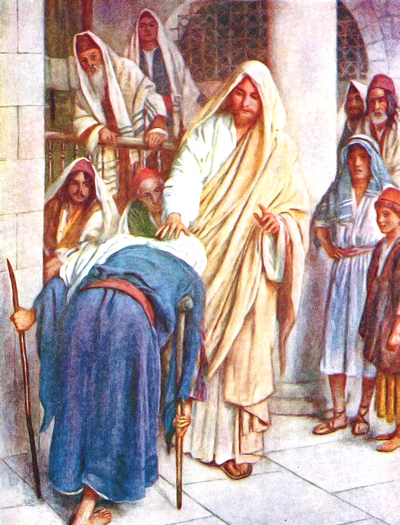 Jesus and the Crippled Woman, Harold Copping