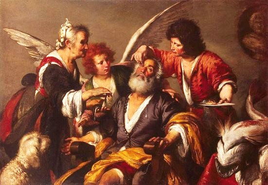 Book of Tobit: the healing of Tobias, Bernardo Strozzi
