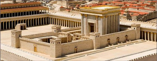 Bad men in the gospels: King Herod the Great. Reconstruction of the Temple rebuilt by King Herod the Great; the Temple was still being rebuilt at the time of Christ