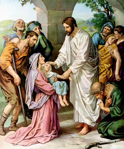 Jesus healed many people, including the daughter of the Syro-phoenician woman