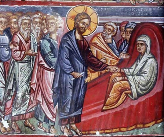 Christ healing the mother-in-law of Peter
