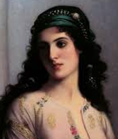 A Jewish beauty, 19th century painting