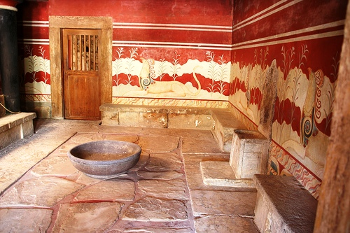 Throne Room of the palace at Knossos, Crete