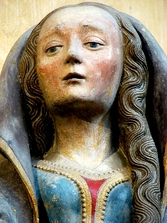 Medieval wood carving of Mary Magdalene