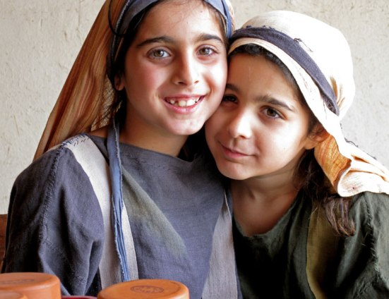Two Middle Eastern sisters