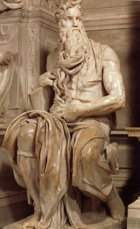 Michelangelo's marble statue of the prophet Moses