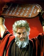 Moses smashes the stone tablets in 'The Ten Commandments'