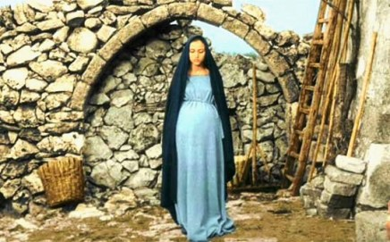 Bible movies, films. The pregnant Mary of Nazareth in Pasolini's 'Gospel According to St Matthew'