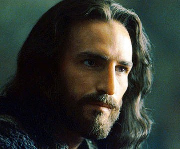 Bible movies, films. Jesus in 'The Passion of the Christ', Last Supper scene