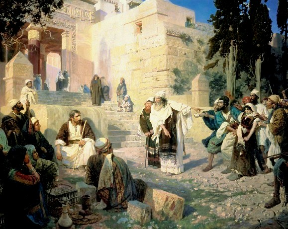 Jesus and the woman taken in adultery, Polenov