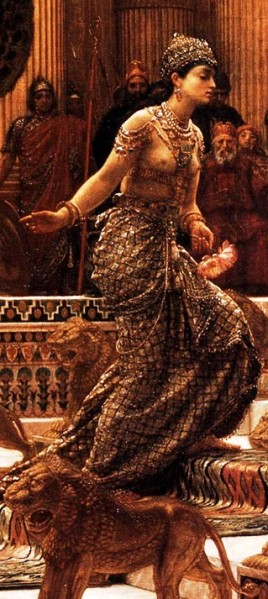 Visit of the Queen of Sheba to King Solomon by Edward Poynter, 1890, detail