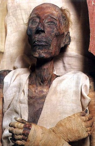 Bad Bible men: the unwrapped mummy of the Egyptian Pharaoh Ramasses