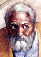 The face of Jacob, from Michelangelo's painting on the ceiling of the Sistine Chapel