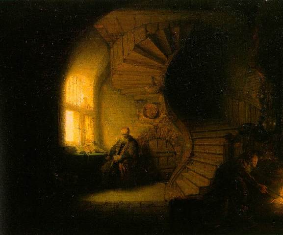 Tobias and Anna in their house, Rembrandt