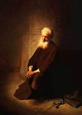 St Peter in Prison, Rembrandt