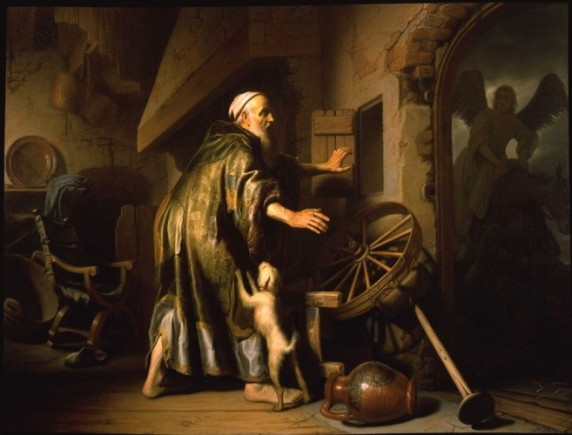 Book of Tobit: the return of Tobit, Rembrandt