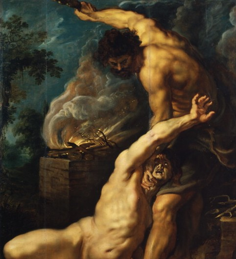 Paintings of Cain and Abel. Cain slaying his brother Abel, Peter Paul Rubens, 1600