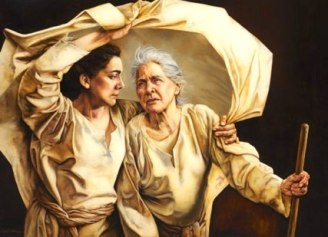 Ruth and Naomi journey to Bethlehem