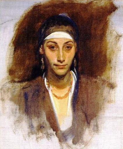 John Singer Sargant's Egyptian Woman with Earrings