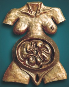Jacob and Esau wrestling in the womb, by Charles Sherman