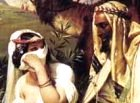 Tamar and Judah, detail of painting by Horace Vernet