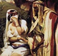 The Levirate Law. Tamar and Judah, Horace Vernet