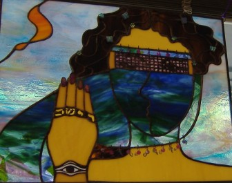 Tamar', stained glass by Diane-Blair Goodpasture