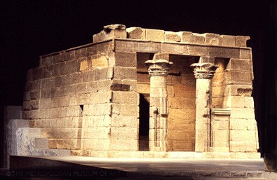 Ruined temple of Dendur from Egypt, now in the New York Metropolitan Museum