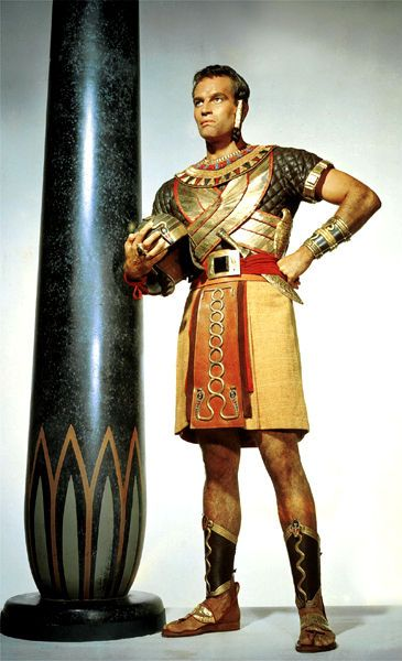 Bible Movies, films. Moses as an Egyptian Prince in 'The Ten Commandments'