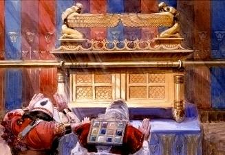 Reconstruction of the Ark of the Covenant, Tissot The final quarrel between Michal and David was about respect/disrespect in the presence of the Ark