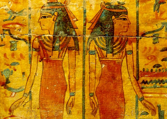 Ancient Egyptian women, wall painting