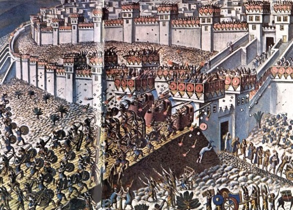 Artist's impression of the attack on Lachish
