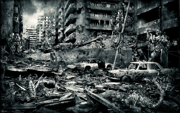 Apocalypse - Revelation: image of a wrecked city