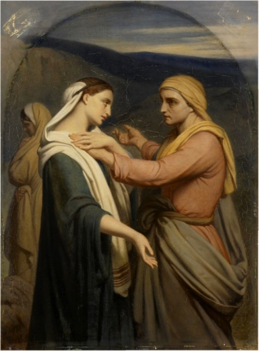 Ruth and Naomi in Bible Paintings: Ruth and Naomi, by Ary Scheffer