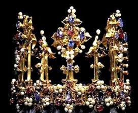 Bible queen: Athaliah. Bohemian crown of gold and jewels