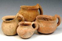'Babies did not wear diapers; they 'went' into small clay pots that the mother carried with her. A mother quickly learnt to read the signals her baby sent when it was about to excrete, and since a baby virtually never left its mother's side, this was easier than it would be now.' Childbirth in ancient times