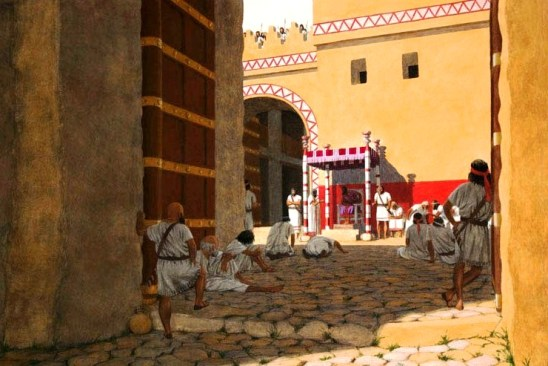 Reconstruction of ancient city gates