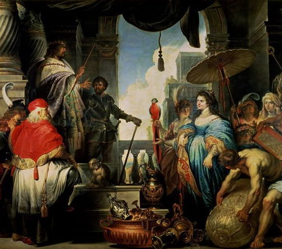 The Queen of Sheba and King Solomon Erasmus-Quellinus-II