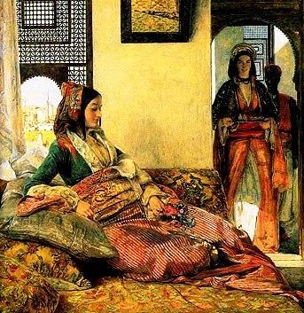 Bible princess: Women in the royal harem, painting by John Lewis