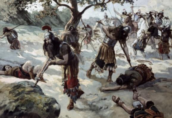 The death of Saul on Mount Gilboa