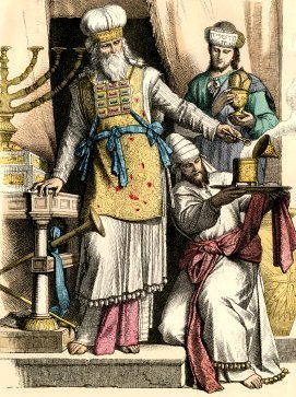 Reconstruction of the regalia worn by the Jewish high priest at the time of Jesus