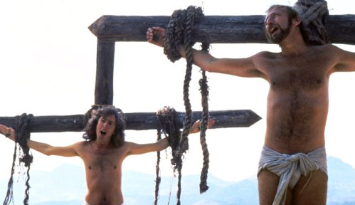 Bible movies, films. 'Always Look on the Bright Side of Life' is sung in 'The Life of Brian'