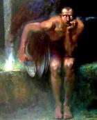 Lucifer, painting by Franz von Stuck