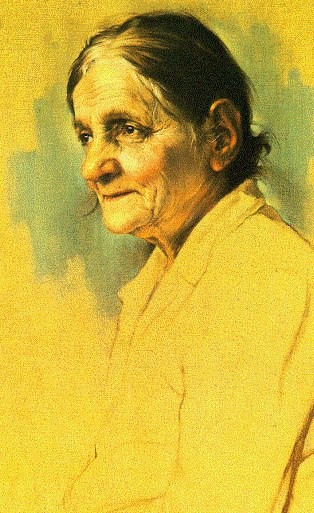 A grandmother, older woman