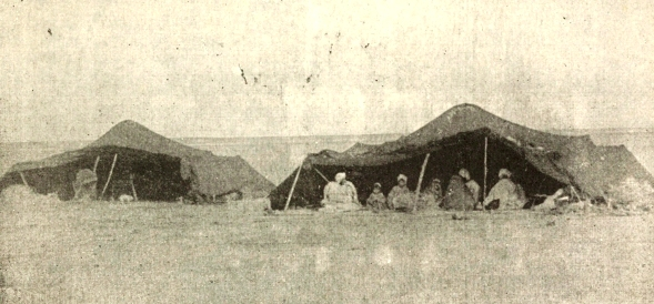 Early photograph of nomadic tents