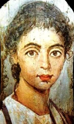Salome, Bible princess. Fayum coffin portrait of a young woman